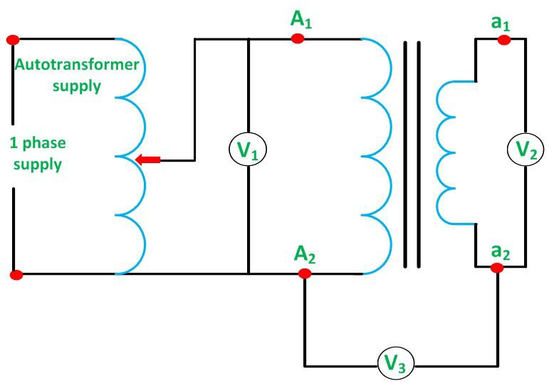 Polarity Test Of A Single-Phase Transformer